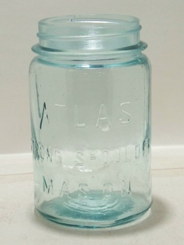 Pint Atlas Strong Shoulder Mason Jar long (A) used empty air bubbles