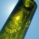 Tho's McMullen & Co's White Label beer or wine olive colored bottle empty