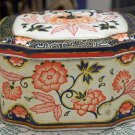 The Metal Box Co. Made in England older vintage tin flower design metal tin