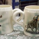 Matador Bullfighter Coffee cups or mugs Made in Mexico nice looking pair