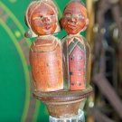 Vintage Mechanical Wine bottle topper man and woman used missing cork