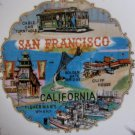 San Francisco California Decorative Souvenir Plate EFCCO Vintage 1960s