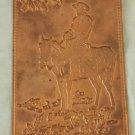 Vintage 1950s Cowboy on Horse Old West Embossed Copper Postcard Kopper Card Co.