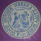 1970s A Good Mother Makes A Happy Home Decorative Collectible Ceramic Plate
