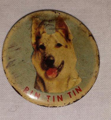 1955 RIN TIN TIN 1950s TV Series Pinback Button Badge