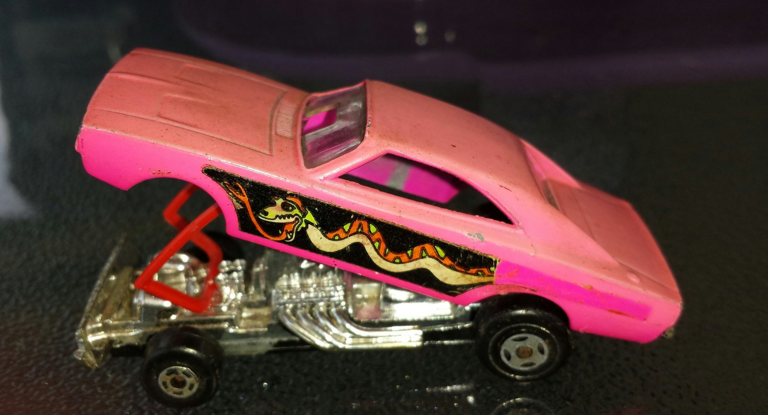 70s Matchbox Car Superfast No 70 Pink Dodge Dragster 1971