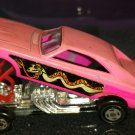 70s Matchbox Car Superfast No 70 Pink Dodge Dragster 1971 by Lesney