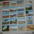 Vintage 1940s Daytona Beach Florida Souvenir Tourist Attractions Fact Cards Lot Set of 19
