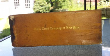 Antique Early 1900s Checkbook BROOKLYN Home Trust Company Of NY 35 Unused Blank Checks