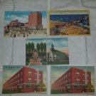 Vintage 1940s Atlantic City NJ Linen Postcards Lot Set of 5 UNUSED UNPOSTED