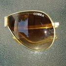 Vintage 80s Designer COBRA Mens Aviator Style Folding Sunglasses