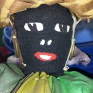 Antique Black Americana Primitive Folk Art Handmade Cloth Rag Doll St Thomas V.I.