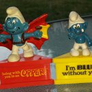 SMURF-A-GRAM VTG 80s I'm Blue Without You & Being With You Is An Upper!  SMURF Figures Collectibles