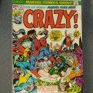 Vintage Marvel Comics CRAZY! VOL 1 NO 1 Feb 1973 Premier Issue FORBUSH-MAN VG