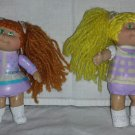 Vintage 1984 Cabbage Patch Kids Plastic Figures Set of 2