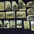 Antique Victorian Photographs Lot of 16 Photos Military Men in uniform on horses & Victorian Ladies