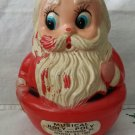 "Vintage 60s ROLY POLY Musical Santa Claus Christmas Chime Toy Large 6. 5"" Size"