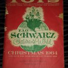 RARE Vintage 1964 F.A.O. SCHWARZ Children's World CHRISTMAS Edition Toys Catalog