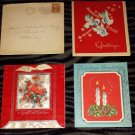 Antique 1940s Christmas Greeting Cards Set of 3