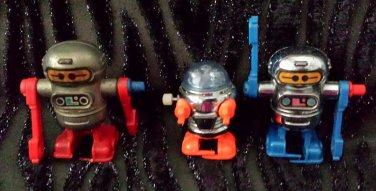 Vintage Tomy Rascal Robots Pocket Bots Acrobots Wind-up Walking Toys 1977 1979 set of 3 GREAT!