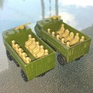 Vintage 70s Matchbox Superfast No 54 Army Personnel Carrier 1976 Diecast set of 2