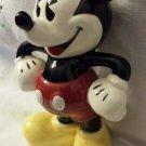 Vintage MICKEY MOUSE Glazed Ceramic Figure Figurine Walt Disney Enesco