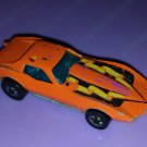 Vintage 70s HOT WHEELS Orange Corvette Stingray 1975 Hong Kong Diecast Toy Car