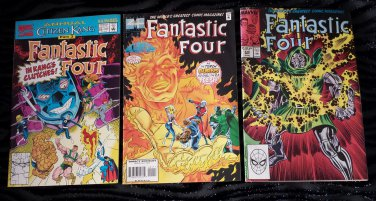 Vintage MARVEL COMICS FANTASTIC FOUR Lot of 3 Vol 1 No 330, Vol 1 No 401 Vol 1 No 25 ~GREAT!