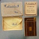Antique Art Deco 1940s Aladdin by Metalfield Cigarette Case w/ Lighter in original box MINT