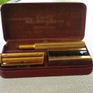 Antique Valet Auto Strop Brass Safety Razor in Original Case w/ Blades