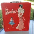 Vintage 1962 Red Vinyl Barbie Doll Case Mattel GREAT!