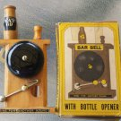 Vintage 70s Bar Bell With Bottle Opener RING FOR ANOTHER ROUND Complete w/ Box Bar Novelty Gag Gift