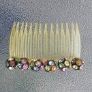 Vintage Rhinestone Embellished Plastic Hair Comb Hair Ornament
