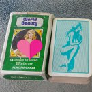 VTG 60s World Beauty Miniature Deck Playing Cards Pinups Risqué Partially Nude Complete in package