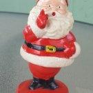 Vintage 50s 60s Bobble Nodder Dancing Santa Claus Christmas Plastic Figure Hong Kong