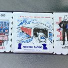 Vintage 70s Humorous Illustrated Cocktail Party Novelty Napkins MINT NOS SEALED Variety Set of 3
