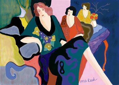 Mixed Media - 3 Women - Art Print