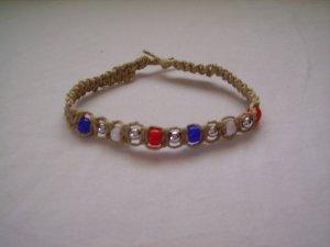 Patriotic Hemp Bracelet