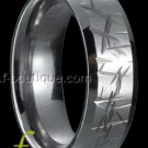 """Zen"" Grooved Tungsten Carbide Band ring sz 5.5, 6, 6.5, 7, 7.5, 8, 8.5, 9, 9.5. 10, 10.5, 11, 11.5"