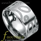 """The Majestic 10"" 10 mm WIDE tungsten carbide band ring size 7.5, 8, 8.5, 9, 9.5, 10, 10.5, 11, 11.5"