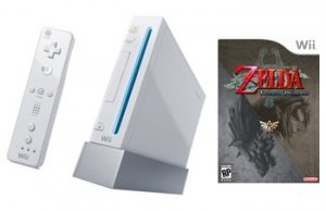 Nintendo Wii Console + The Legend Of Zelda:Twilight Princess Bundle
