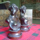 2 BRONZE 19TH CENTURY SCULPTURES BY BELGIAN ARTIST JEF LAMBEAUX