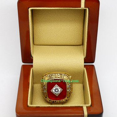 1991 Minnesota Twins mlb World Series Baseball League Championship Ring