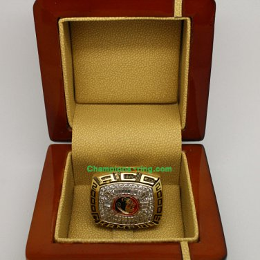 2000 FSU Florida State Seminoles ACC NCAA Football National Championship Ring