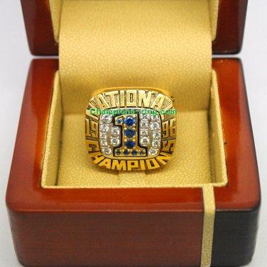 1996 Florida Gators NCAA Football National Championship Ring