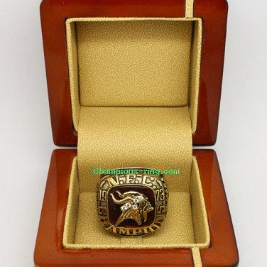 1973 Minnesota Vikings NFC National Football Conference Championship Ring