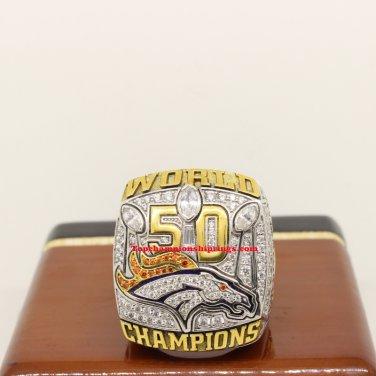 2015 Denver Broncos NFL Super Bowl 50 Football Championship Rings