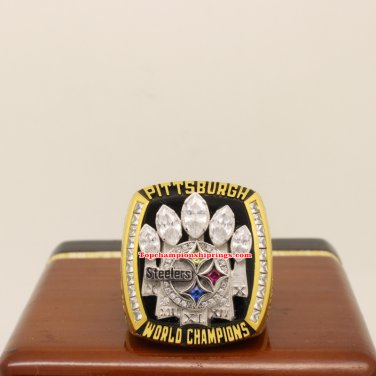 2005 Pittsburgh Steelers Super Bowl XL Football Replica Championship Ring