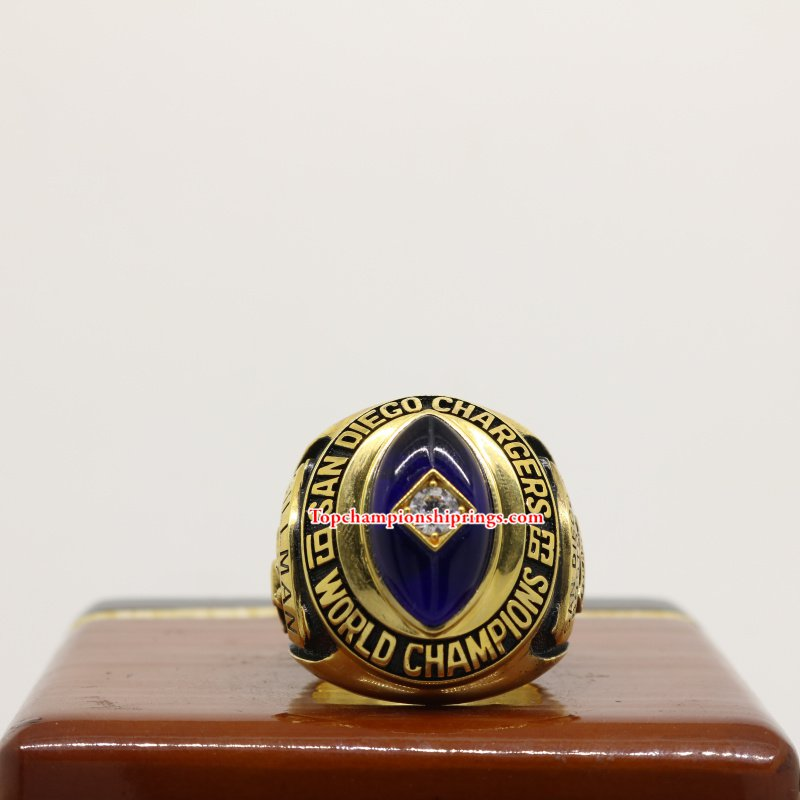San Diego Chargers Box Office: 1963 San Diego Chargers AFL Championship Ring