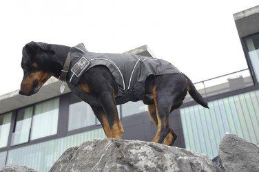 "On Sale: (L) High Quality Warm Dog Winter Jacket w/ Fleece Lining 19-3/8"", Black"